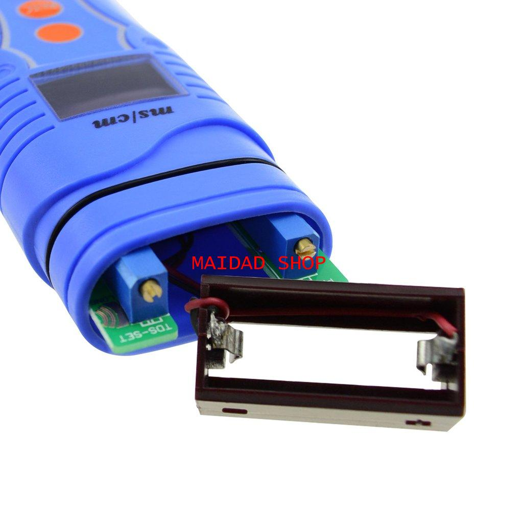 เครื่องวัด EC, pH, อุณหภูมิ แบบ 3in1 หน่วย EC เป็น mS ใช้วัดค่าปุ๋ย A+B, pH ในการปลูกผักไฮโดรโปนิกส์ 5