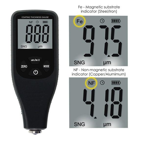 เครื่องวัดความหนาสี (Paint Coating Thickness Meter) ช่วงค่าการวัด 0~1500 um รุ่น CTM 1