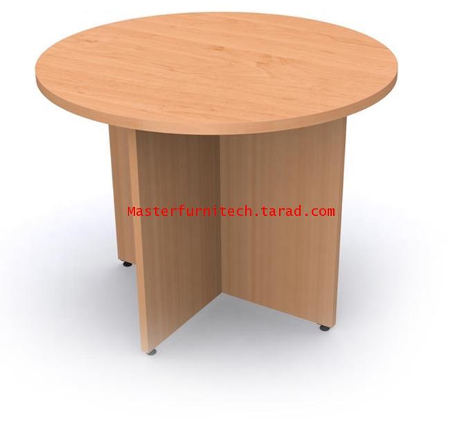 โต๊ะประชุมกลม ขาไม้