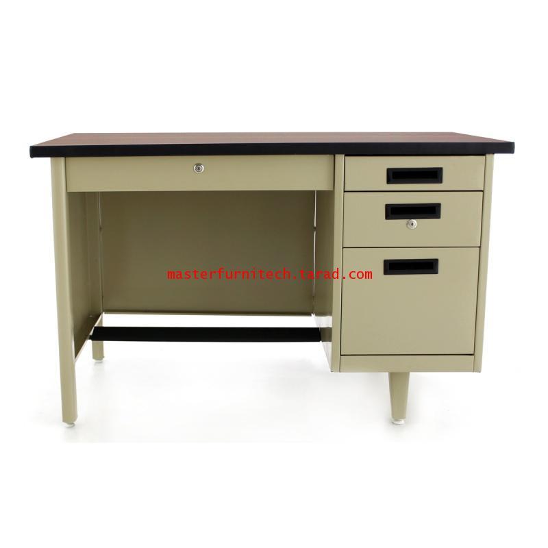 โต๊ะทำงานเหล็ก3ฟุตหน้าไม้ DLN-2436