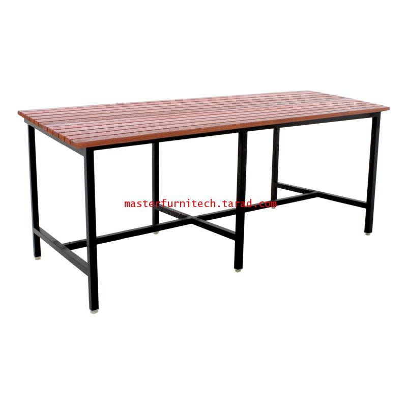 โต๊ะโรงอาหารหน้าไม้ระแนง 180