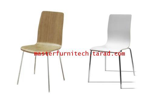 เก้าอี้ไม้ดัด สีขาว สีลายไม้