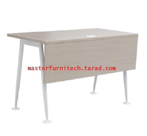 โต๊ะทำงานขาเหล็ก สีโอ๊คอ่อน  รุ่น AX-TR1260