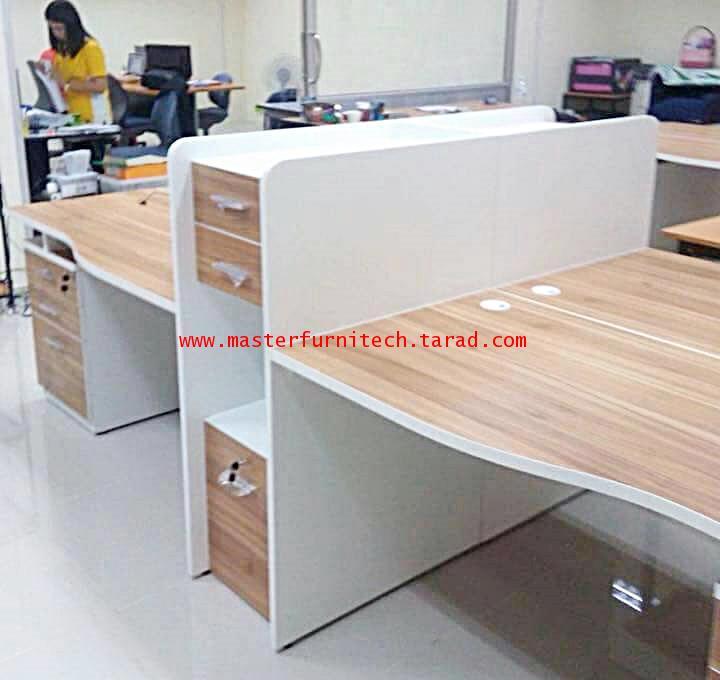 โต๊ะทำงานไม้แบบหน้าTOPโค้ง