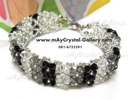 สร้อยข้อมือ คริสตัลแบรนด์แท้ คริสตัลผลิตจากยุโรป (Embellished with Crystals from Austria)