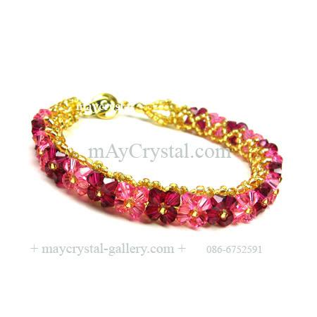 สร้อยข้อมือ คริสตัลแบรนด์แท้ จากยุโรป (Embellished with Crystals from Austria) ดอกพิกุล