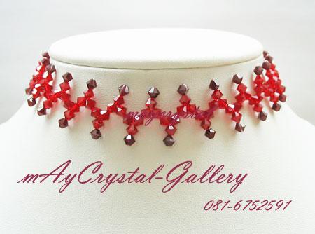 โช๊คเกอร์ คริสตัลแบรนด์แท้ คริสตัลผลิตจากยุโรป (Embellished with Crystals from Austria) ส่งพร้อม TAG