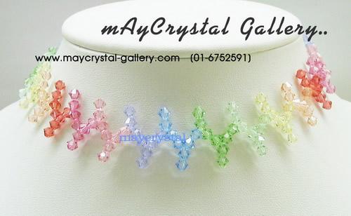 โช๊คเกอร์ คริสตัลแบรนด์แท้ คริสตัลผลิตจากยุโรป (Embellished with Crystals from Austria) ส่งพร้อม TAG 1