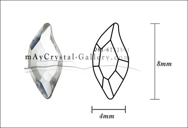 แพค 20 ชิ้น Swarovski Elements ก้นแบน = รูปทรงใบไม้ดีไซน์ ขนาด 8mm