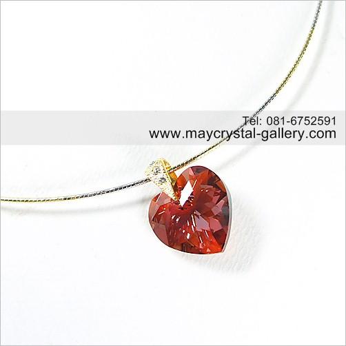 จี้คริสตัลแท้ (Embellished with Crystals from Austria) = Red Magma Heart