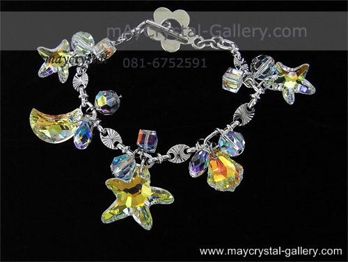 สร้อยข้อมือ คริสตัลแบรนด์ จากประเทศออสเตรีย (Embellished with Crystals from Austria)