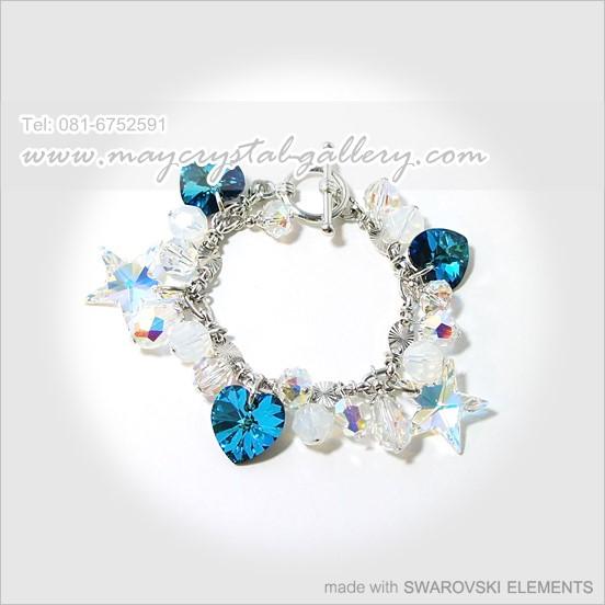 สร้อยข้อมือ คริสตัลแบรนด์แท้ จากประเทศออสเตรีย (Embellished with Crystals from Austria)