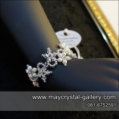 สร้อยข้อมือ คริสตัลแบรนด์แท้ (Embellished with Crystals from Austria)  = ดอกไม้เลื้อย