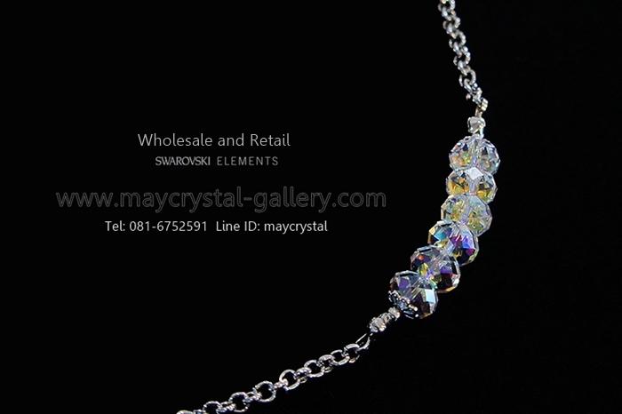 สร้อยข้อมือ คริสตัลแบรนด์แท้ จากยุโรป (Embellished with Crystals from Austria) = Briolette Crystal