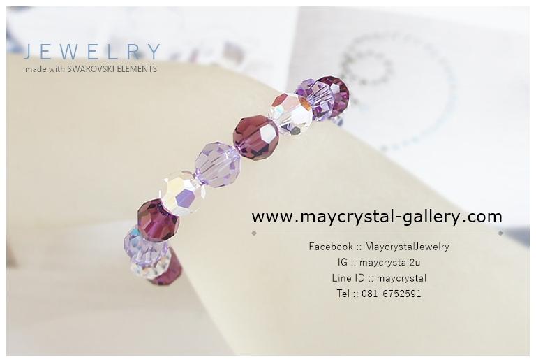 สร้อยข้อมือ คริสตัล แบรนด์แท้ จากยุโรป (Embellished with Crystals from Austria)