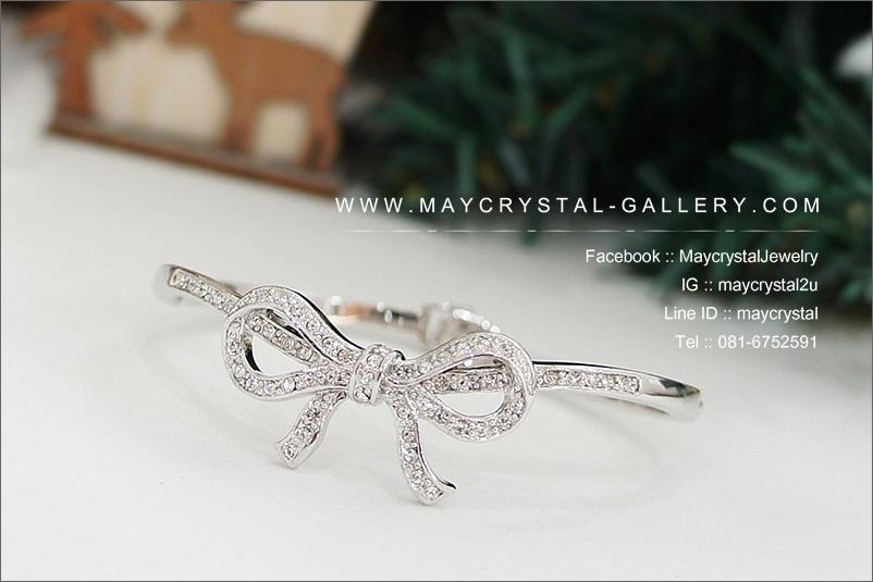 กำไลข้อมือ คริสตัลแบรนด์แท้ จากประเทศออสเตรีย (Embellished with Crystals from Austria)