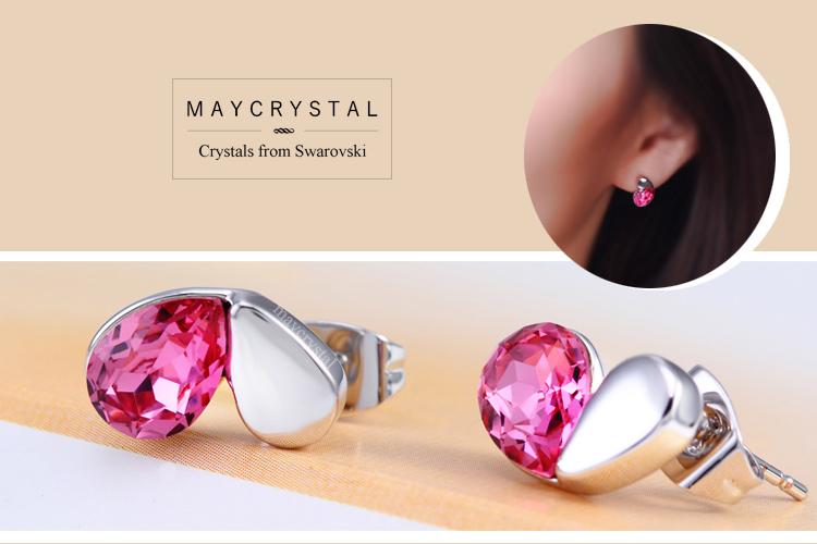 ต่างหู คริสตัลแบรนด์ จากประเทศออสเตรีย (Embellished with Crystals from Austria)