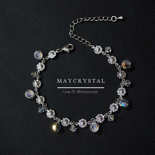 สร้อยข้อมือ คริสตัลแบรนด์แท้ จากประเทศออสเตรีย (Embellished with Crystals from Austr = ประกายดุจเพชร