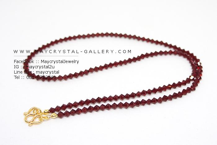สร้อยคอคริสตัลแบรนด์แท้ จากประเทศออสเตรีย (Embellished with Crystals from Austria)