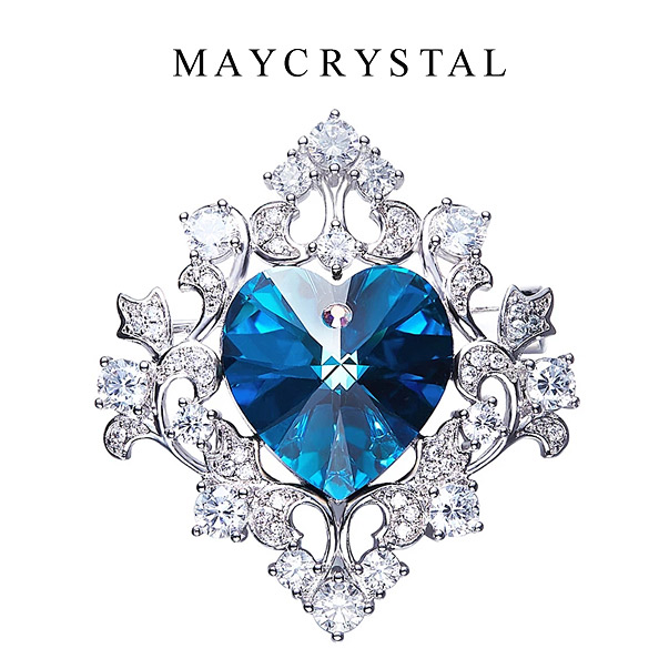 เข็มกลัด คริสตัลแบรนด์แท้ จากประเทศออสเตรีย (Embellished with Crystals from Austria)