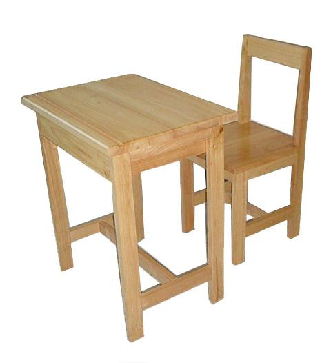 MD2-004 โต๊ะเก้าอี้นักเรียนไม้ยางพาราทั้งตัว ระดับประถมศึกษา