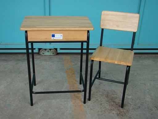 MD1-003 โต๊ะ-เก้าอี้นักเรียน มอก.ระดับ6  แบบขาสีดำ (มัธยมศึกษา)  มาตราฐานทั่วประเทศ