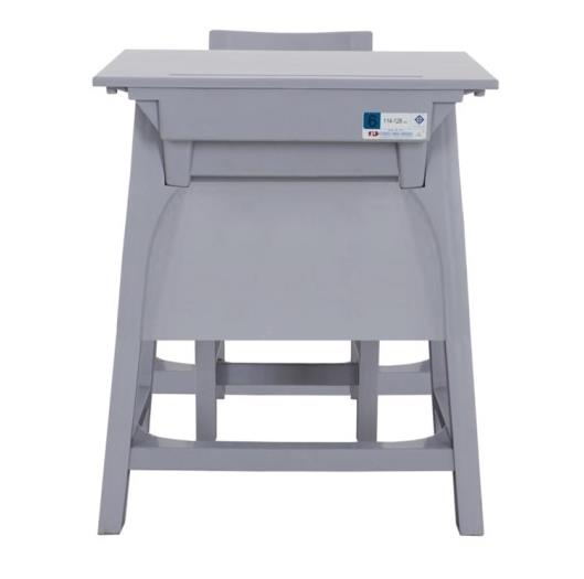 MD1-009 โต๊ะเก้าอี้นักเรียน มอก.ระดับ6 (มัธยมฯ)พลาสติกทั้งตัว