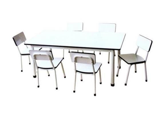 MD2-020 โต๊ะเก้าอี้กลุ่ม (เก้าอี้ 6ตัว) สำหรับนักเรียนอนุบาล