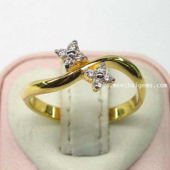 แหวนเพชรแท้ เกรดขาว