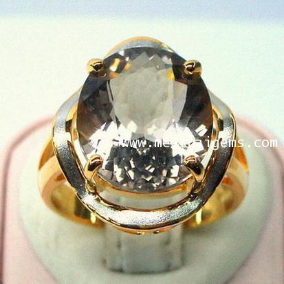 แหวนพลอยสโมกกี้ควอร์ตซ์