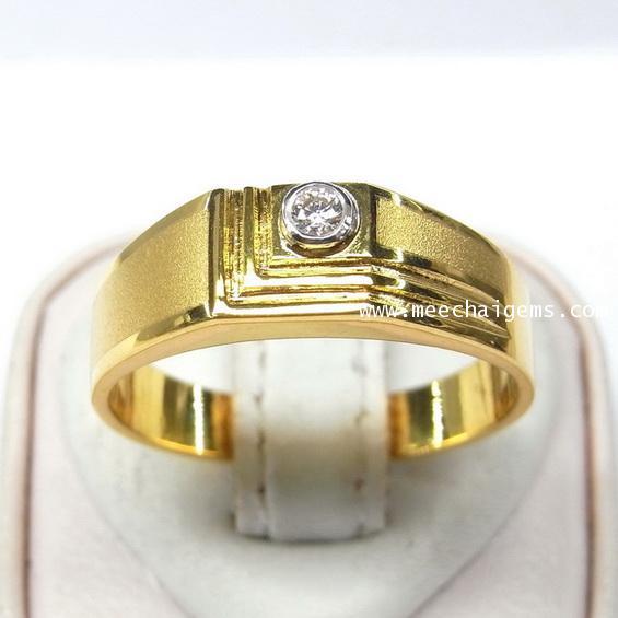 แหวนเพชรแท้ดีไซน์เรียบหรู