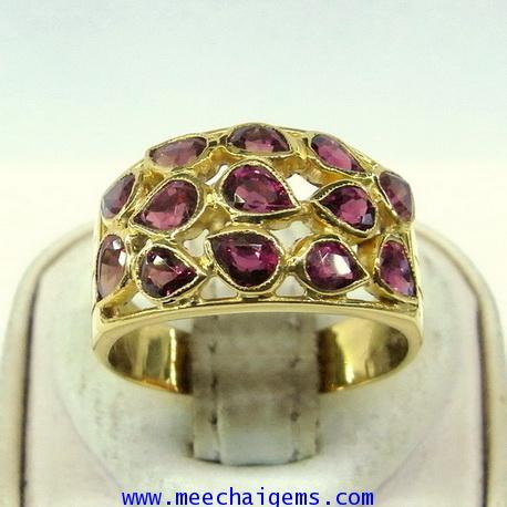 แหวนพลอยทับทิมจันท์แท้