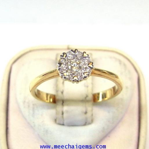 แหวนเพชรแท้เกรดขาว