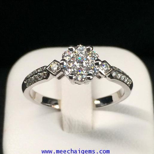 แหวนเพชรแท้รวมช่อน่ารักๆ