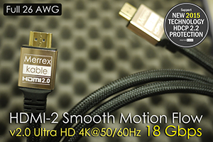 สายสัญญาณ HDMI-2 Smooth Motion Flow v2.0 ความยาว 5 เมตร รองรับ3D 1080p 18 Gbit/s (4k x 2k)