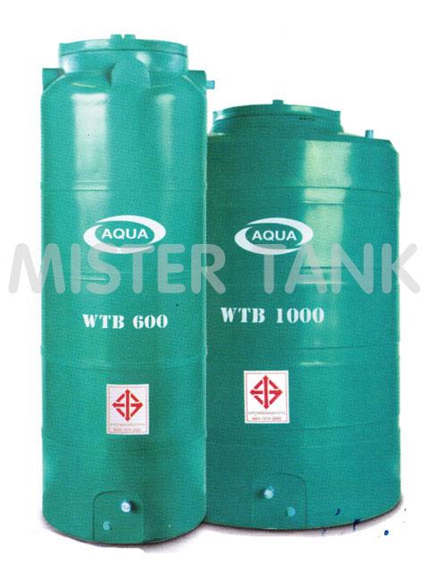 ถังเก็บน้ำพลาสติกบนดิน/ P.E.  AQUA (รุ่นประหยัด)