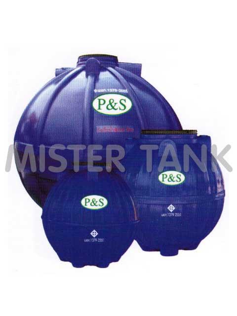 ถังเก็บน้ำใต้ดินพลาสติก/ P.E. P+S สีน้ำเงิน