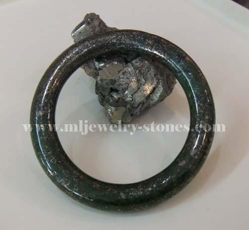 กำไลหินไพไรต์(pyrite)กำไลเพชรหน้าทั่ง