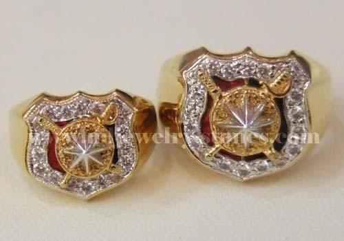 แหวนนายร้อยตำรวจคู่ชาย-หญิง/ แหวนญาตินายร้อยคุณแนน