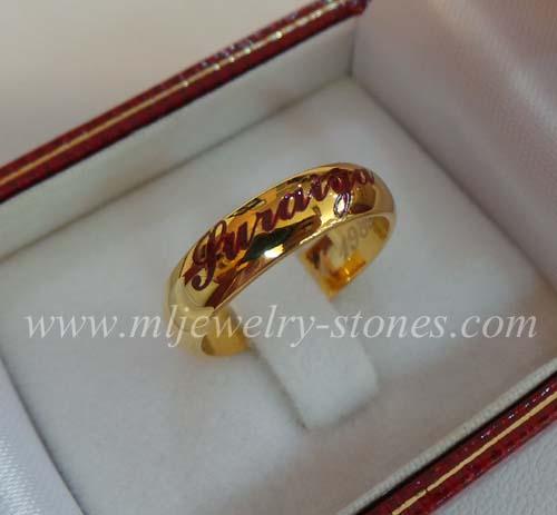 แหวนทองคำยิงเลเซอร์ Suraiya (งานสั่งทำ)