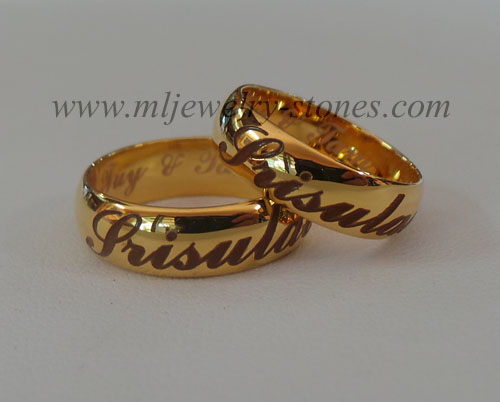 แหวนทองยิงเลเซอร์คู่ชาย/หญิง (งานสั่งทำ)
