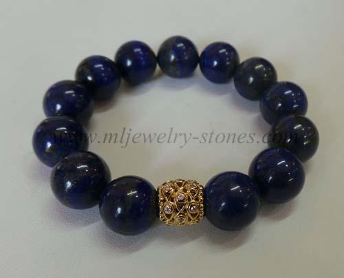 สร้อยข้อมือลาพิส ลาซูลี 15มิล(Lapis Lazuli)