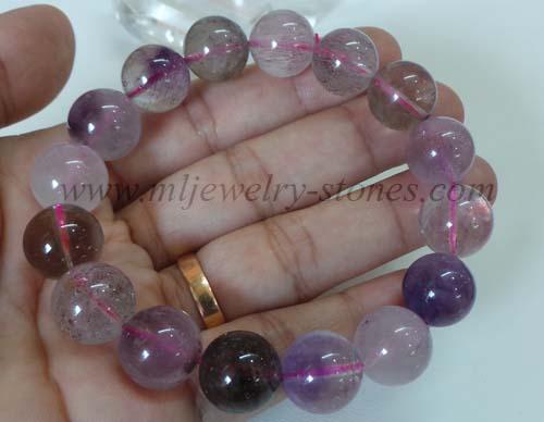 สร้อยข้อมือหิน SUPER SEVEN (ซุปเปอร์ เซเว่น)หรือ Melody \'s Stone(เมโลดี้ สโตน)ขนาด 13.5 มิล