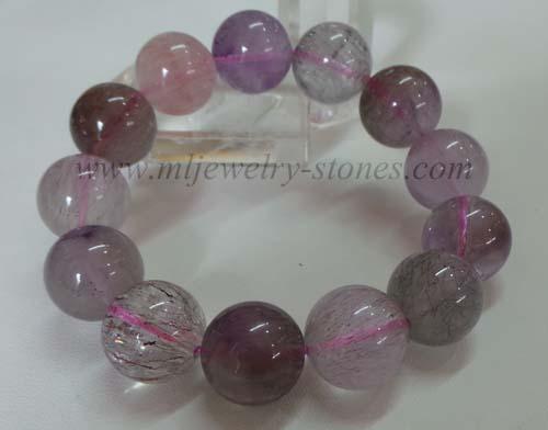 สร้อยข้อมือหิน SUPER SEVEN (ซุปเปอร์ เซเว่น)หรือ Melody \'s Stone(เมโลดี้ สโตน)ขนาด 16 มิล