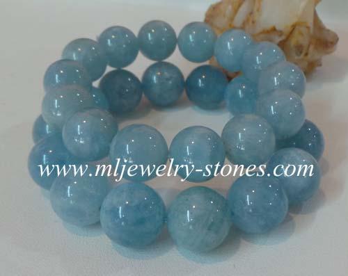 สร้อยข้อมือหินอความารีน(Aquamarine) 13 มิล