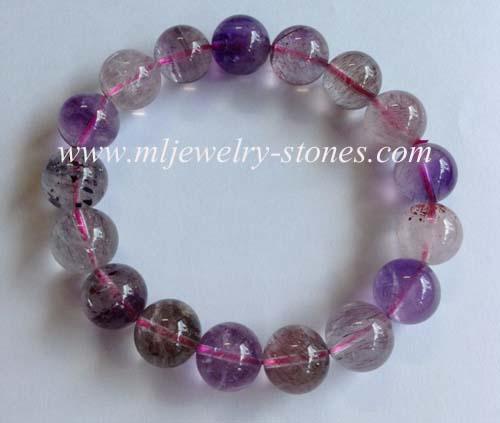 สร้อยข้อมือหิน SUPER SEVEN (ซุปเปอร์ เซเว่น)หรือ Melody \'s Stone(เมโลดี้ สโตน)ขนาด 12 มิล
