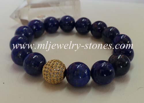 สร้อยข้อมือลาพิส ลาซูลี 12 มิล(Lapis Lazuli)