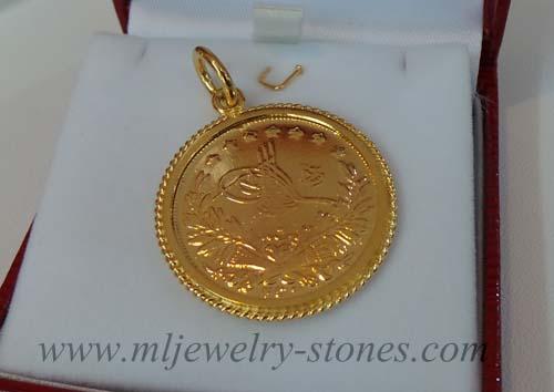 จี้เหรียญโบราณทองคำแท้ทำทอง