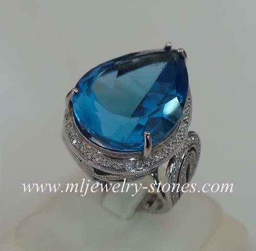 แหวนพลอยบลูโทแพส(Blue Topaz)
