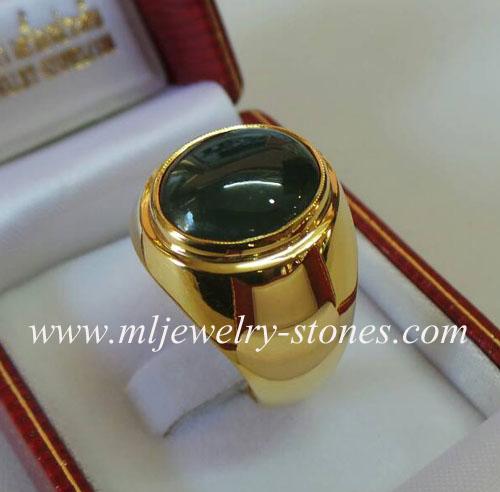 แหวนหยกพม่าตัวเรือนทอง(งานสั่งทำ)